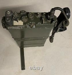Military Surplus Field Radio Receiver Transmitter Rt-176 Prc-10 With Backpack