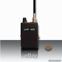 New! Pll Nfm Uhf Receiver V2 For Bugs Spy Transmitters Taps Detachable Antenna