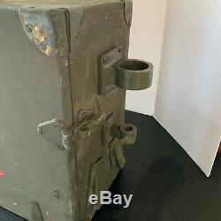 Original WW2 Era Signal Corps SCR 178 Radio Transmitter Receiver In Case