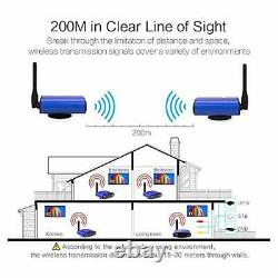 PAT-535 5.8GHz AV 200M STB Wireless AV Sender Transmitter 2 Receiver IR Remoter