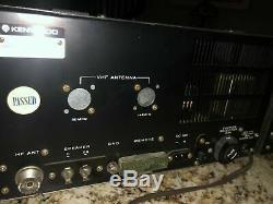 Pair of KENWOOD T-599A Ham Radio HF 80-10 Transmitter & R-599A Receiver