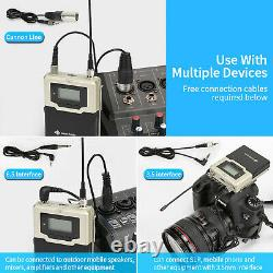 Professional Wireless Lavalier Microphone Body Pack Transmitter Receiver System