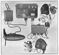 RARE Western Electric SCR-68 Radio Transmitter Receiver VT-1 VT-2 Tubes WWI