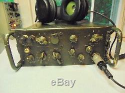 RT-654A TRC-77 Military Field Radio HF Receiver CW Transmitter 3-8 MC