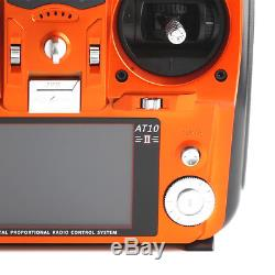 RadioLink AT10 II 2.4G 10CH Transmitter with R12DS Receiver Radio for Helicopter