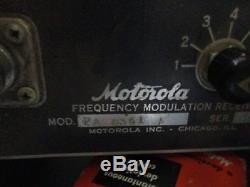 Rare 1940s Motorola Police Tube Radio Transmitter Receiver Tower Cabinet Ham