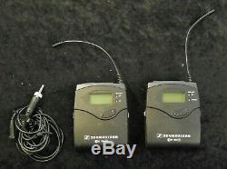 SENNHEISER SK100, EK100 G3 A Band ME-2 Wireless Bodypack Transmitter & Receiver