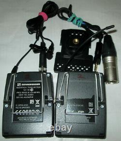 SENNHEISER SK100, EK100 G3 B Band ME-2 Lav Mic Wireless Transmitter & Receiver