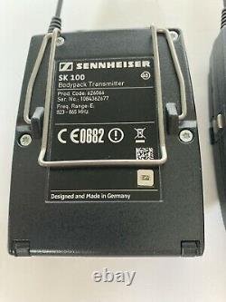 SENNHEISER SK100 EK100 G3 E 823-865 MHz Wireless Bodypack Transmitter & Receiver