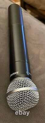 SHURE PGX2 WIRELESS TRANSMITTER SM58 & SHURE PGX4 RECEIVER H6 572-590MHz NICE