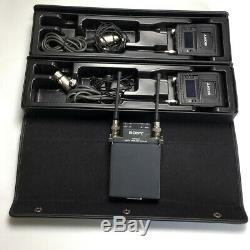 SONY DWR-S01 2ch Digital Receiver + 2 x DWT-B01 Transmitters + 2 x Sony Mics