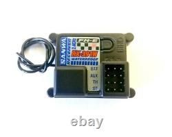Sanwa/Airtronics MX-6 FH-E 3-Channel 2.4GHz Radio System withRX-391W 3-CH Receiver