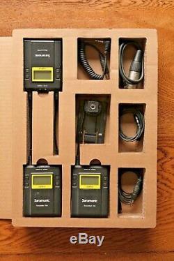 Saramonic UWMIC9 Wireless Lav Mic System, dual receiver & 2 x transmitters