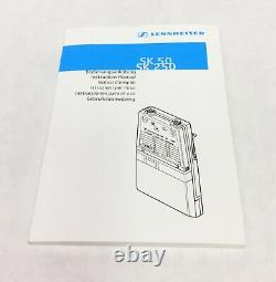 Sennheiser EM 3532-U Dual Receiver and two SK 50 Transmitters 584-607 MHz