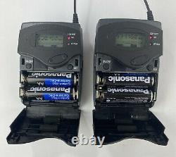 Sennheiser EW100 EK100 SK100 G2 Wireless Bodypack Receiver Transmitter Mic Lot