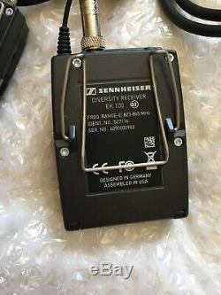 Sennheiser EW100 G3 Transmitter Receiver RX TX 823-865mhz Wireless Microphone