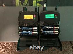 Sennheiser IEM G2 2 transmitters & 2 receivers A 518-554 wireless 2000 EK SR G3