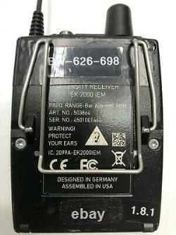 Sennheiser SR 2050 Stereo IEM Transmitter with 2 EK 2000 Receivers Bw 626-698 MHz