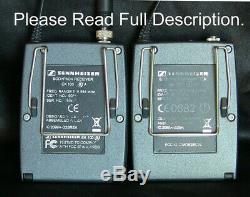 Sennheiser Wireless EW100 G2 A SK100 & EK100 518-554 MHz Transmitter & Receiver