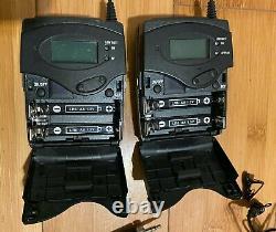 Sennheiser ew100 ENG Set G3 Wireless Microphone Transmitter Receiver Lav Mic XLR