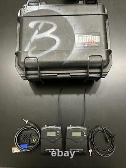 Sennheiser ew100 G2 A Bodypack SK100 Transmitter, Receiver & Case 518-554MHz