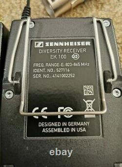Sennheiser sk 100 G3 radio transmitter, receiver and microphones