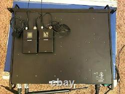 Shure Axient AXT400 receiver 470-698 UR1 bodypack microphone transmitters G1 H4