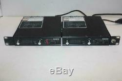 Shure PSM600 Wireless Transmitter (2X) Full Rack and 2 receivers with rack mount