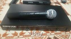 Shure SM58 LX2 Wireless Microphone Transmitter DFR11Q Wireless Receiver 237.8