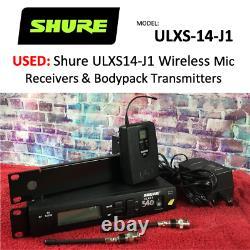 Shure ULXS14-J1 wireless mic receiver & transmitter 554-590 MHz. USLegal