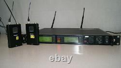Shure UR4D Dual Wireless Receiver + 2 x Beltpack Transmitters Suffix R9 (22 Q)