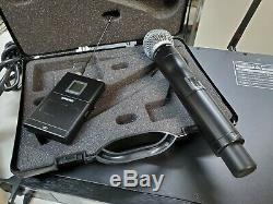Shure Ur4d Wireless Microphone Receiver 2 Sm58 Ur2 Mics & 2 Ur1 Transmitters Set