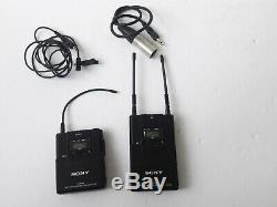 Sony URX-P2 & UTX-B2 Wireless Lavalier Microphone Receiver and Transmitter