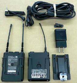 Sony Wireless UTX-B03 Transmitter, URX-P03 Receiver, Lavalier Microphone, More