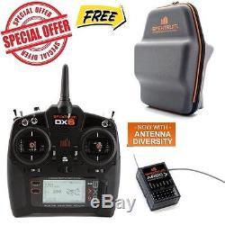Spektrum DX6 6-CH DSMX Transmitter / Radio Mode 2 w AR610 Receiver Carrying Bag