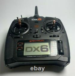 Spektrum DX6 6-Channel 2.4GHz DSMX RC Radio Transmitter Only, SPMR6750, Black