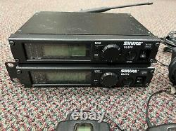 TWO Shure ULXP4 Wireless Microphone Transmitters and receivers Working