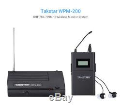 Takstar WPM-200 UHF Wireless Monitor System Stereo 1 Transmitter+2 Receivers G0