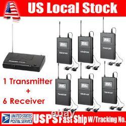Takstar WPM-200 UHF Wireless Stage Monitor System 1 Transmitter+6 Receivers Set
