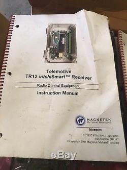 Telemotive Magnetek Crane Radio Receiver Kit Tr12-pda Telepilot Transmitters