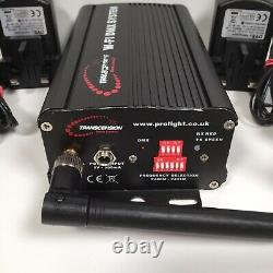 Transcension W-FI Wireless DMX Transmitter Receiver Kit 3 x WiFi Transceivers