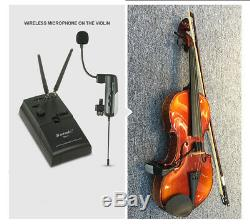 UHF Professional Wireless Instrument Microphone Transmitter+Receiver for Violin