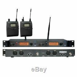 UHF Wireless In Ear Monitor System In-ear Earphone Stage Monitoring Dual Channel
