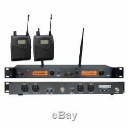 UHF Wireless In ear Monitor System In-ear Earphone Monitoring Stage Dual Channel