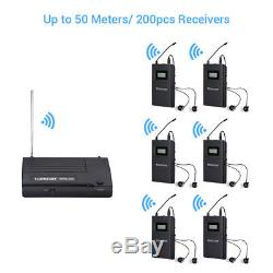 UHF Wireless Monitor In-Ear System 1 Transmitter+2 Receivers WPM-200 For Stage