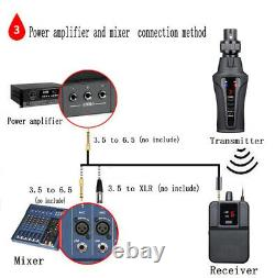 UHF Wireless in-ear monitor system for stage performance Transmitter receiver