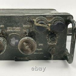 US Army Radio Receiver Transmitter RT-841/PRC-77 withHandset Vintage Untested