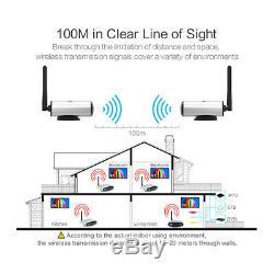 US RCA AV Sender Receiver Video Wireless Transmitter Cordless IR Remote Signal