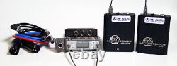 Used Lectrosonics SRA/5P 2-Channel Receiver & (2) UM400a Transmitters Block 25