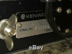 VINTAGE -KENWOOD T-599A Ham Radio HF 80-10 Transmitter & R-599A Receiver